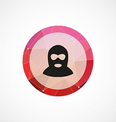 offender circle pink triangle background icon vector image