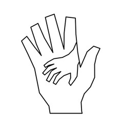Outstretched hand symbol vector