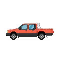 pick up truck isolated icon vector image
