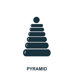 pyramid icon mobile apps printing and more usage vector image