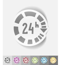 Realistic design element around the clock vector
