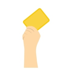 Referee showing yellow card flat icon vector