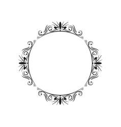 round elegant vintage frame vector image