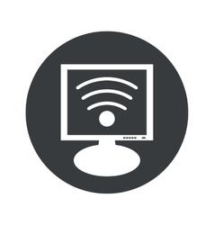 Round Wi-Fi monitor icon vector