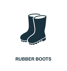 rubber boots icon symbol creative sign from vector image
