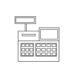 Sale cash register icon outline style vector image