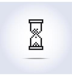 sand clock icon vector image