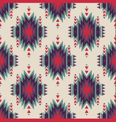 Seamless decorative ethnic pattern american vector