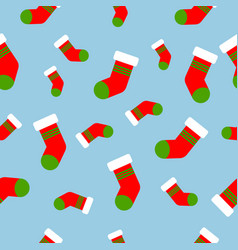 seamless pattern with christmas socks vector image