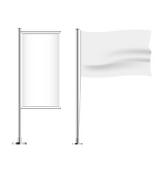 set of flag horizontal and vertical vector image