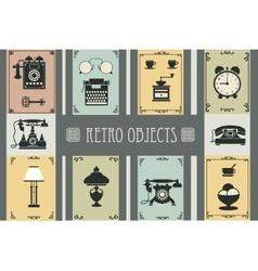 Set retro household vector