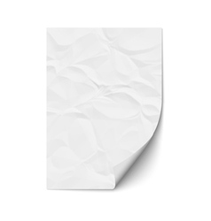 Sheet crumpled paper vector