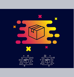Shipping box line icon logistics delivery sign vector