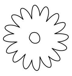 Sketch contour of hand drawing daisy flower with vector