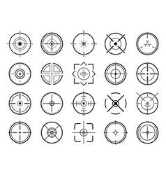 sniper aim pointer target navigation sniper vector image