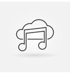 Sound cloud icon or logo vector
