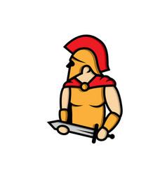 Spartan mascot logo design vector