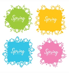 Spring frames vector