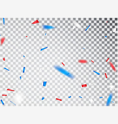usa celebration red and blue confetti isolated on vector image