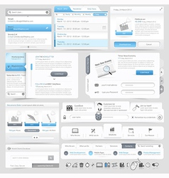 Web site design menu navigation vector