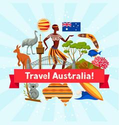 australia background design australian vector image
