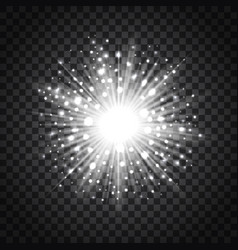 flash star on transparent background vector image vector image