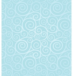 Frosty winter swirl seamless pattern vector image vector image