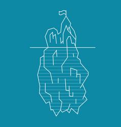iceberg line style vector image