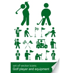 set of golf icon vector image