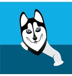 siberian wolf design vector image vector image