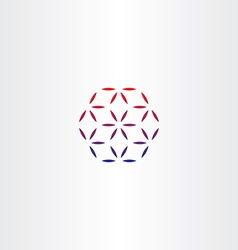 abstract business hexagon logo design vector image vector image