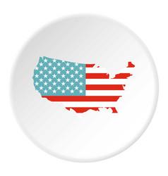 american map icon circle vector image