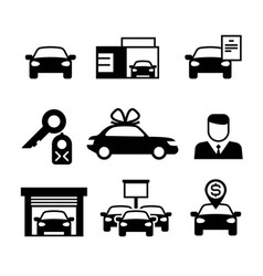 auto dealership car industry selling buying and vector image