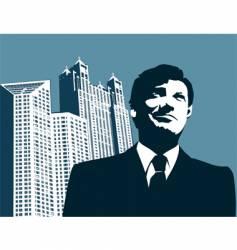 businessman-city vector image vector image