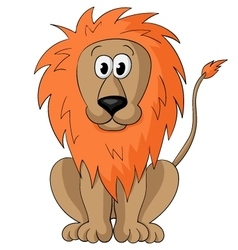 Cute cartoon lion vector image