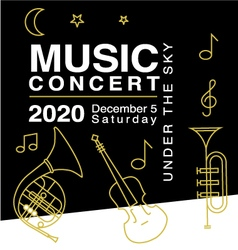 Design elements for music concert advertising vector image vector image