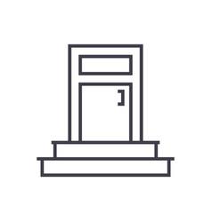 entrance door line icon sign vector image