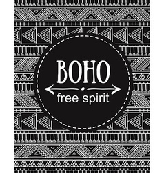 Hand drawn Boho style card Tribal design vector image vector image