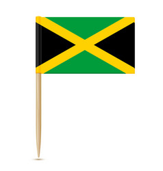 jamaica flag toothpick 10eps vector image vector image