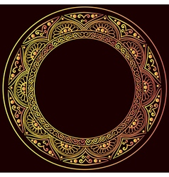 round gold frame vector image