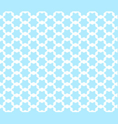 seamless pattern with cute arabian styled blue vector image