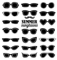 Summer sunglasses set vector image vector image