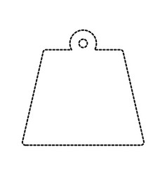 uncolored bag sticker vector image