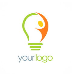 creative man idea logo vector image