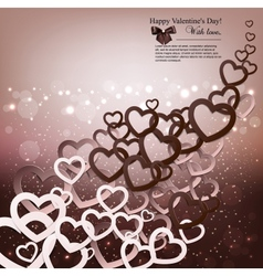 Elegant background with paper hearts and copy vector image vector image