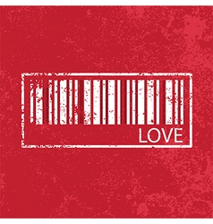 love vintage abstract grunge red background vector image vector image