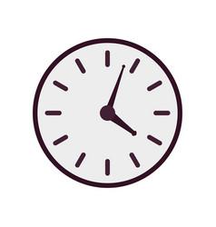 purple clock icon vector image