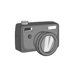 Camera icon black monochrome style vector image
