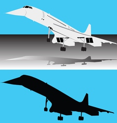 Concorde plane vector image