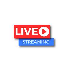 live stream tv logo icon vector image vector image